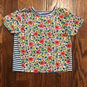 Boden girls mixed print tee